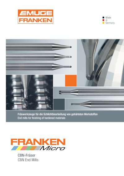 FRANKEN Micro CBN-Fräser