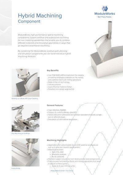 Hybrid Machining Component