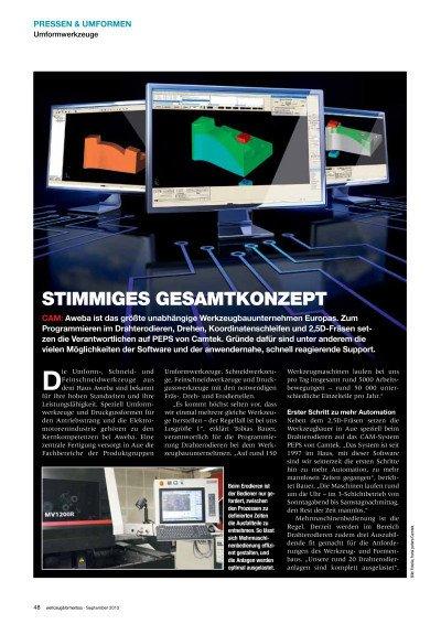 Stimmiges Gesamtkonzept - Anwenderbericht Aweba Werkzeugbau GmbH