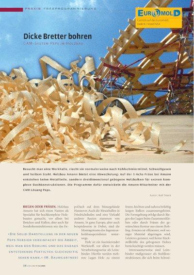 Dicke Bretter bohren: Anwenderbericht Holzbau Amann