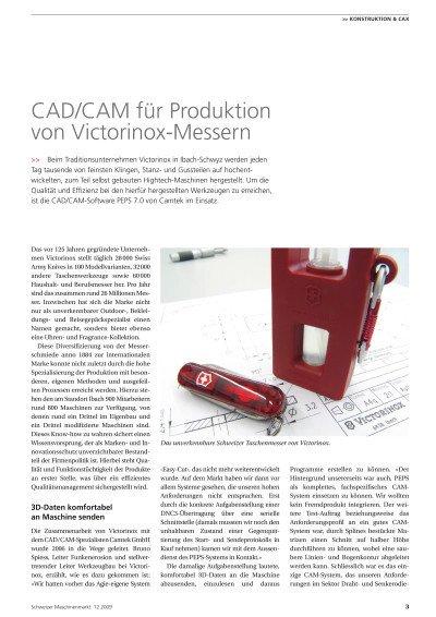 CAD/CAM für Produktion von Victorinox-Messern - Anwenderbericht Victorinox