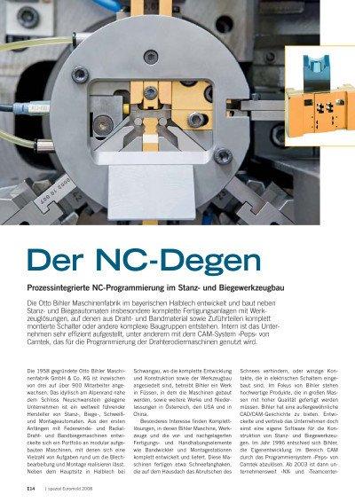 Der NC-Degen - Anwenderbericht Otto Bihler Maschinenfabrik