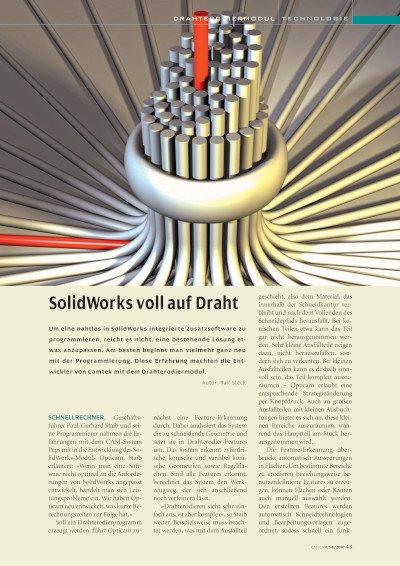 SolidWorks voll auf Draht