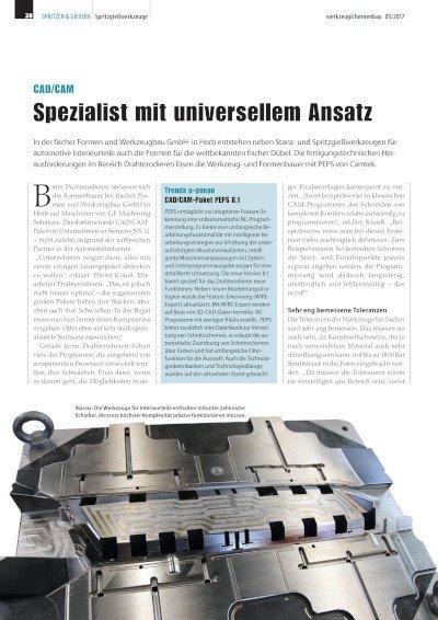 Spezialist mit universellem Ansatz - Anwenderbericht fischer Formen und Werkzeugbau GmbH
