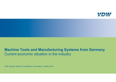 VDW Charts current situation Machine Tool Industry Germany