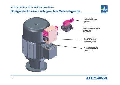 06 - Motor mit konstanter Drehzahl - 03 - Designstudie eines integrierten Motorabgangs