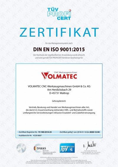 Qualitätsmanagement TÜV-geprüftes Qualitätsmanagement nach ISO 9001