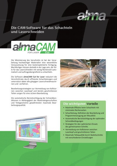 almaCAM Cut for Laser