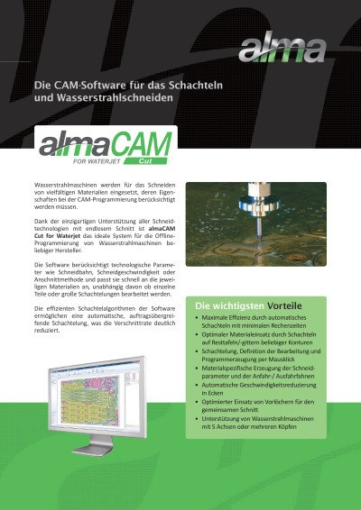 almaCAM Cut for Waterjet