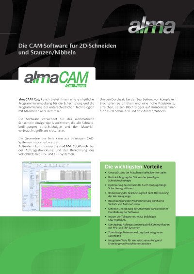 almaCAM Cut/Punch