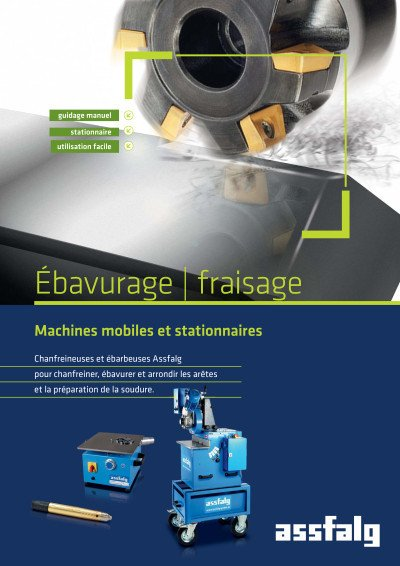 Assfalg Catalogue Ébavurage | fraisage