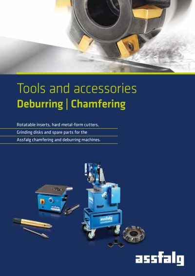 Assfalg catalog Tools and accessories Deburring | Chamfering