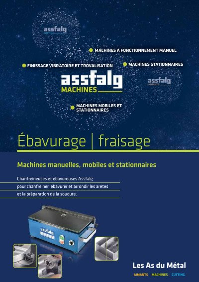 Assfalg Catalogue Ébavurage | fraisage