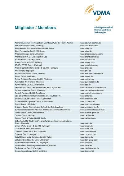 AG Mitglieder