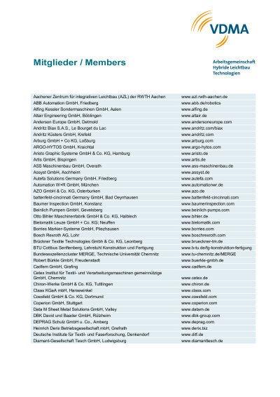 AG-Mitgliederliste