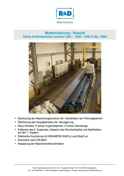 Safop Leonard CNC - 1000-1800 S