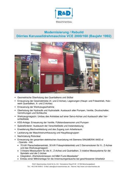 Dörries VCE 2000/160 (Bj 1996)