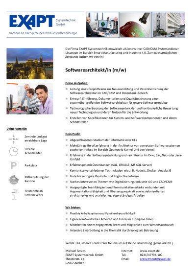 Softwarearchitekt (m-w)