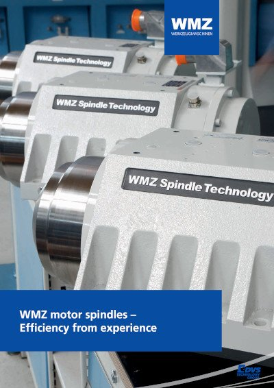 WMZ motor spindles – Efficiency from experience