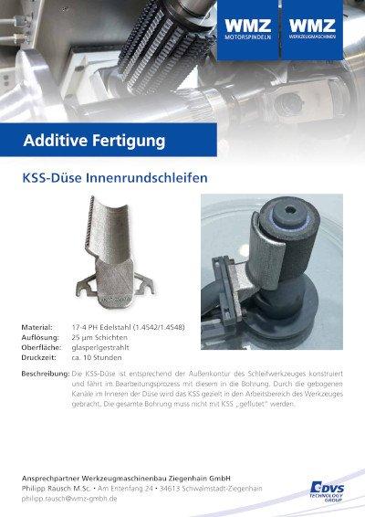Additive manufacturing coolant nozzle