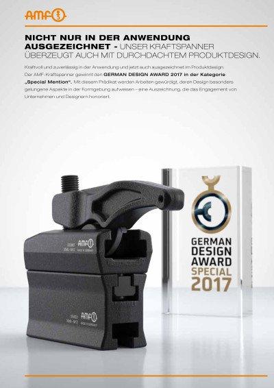 GERMAN DESIGN AWARD SPECIAL 2017 - Die AMF Andreas Maier GmbH & Co. KG wird erneut ausgezeichnet