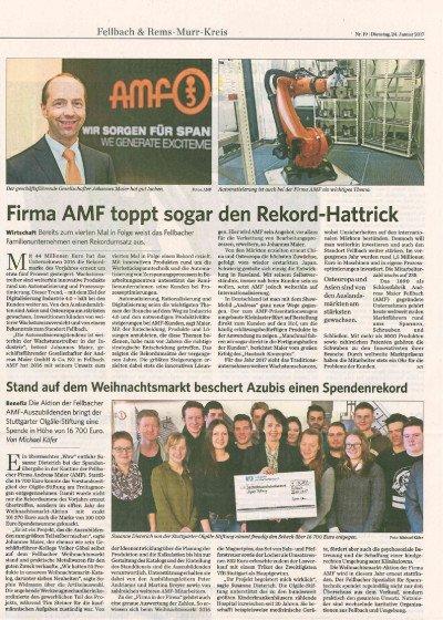 Firma AMF toppt sogar den Rekord-Hattrick