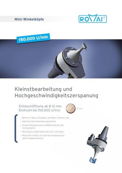 Broschüre Mini-Winkelköpfe