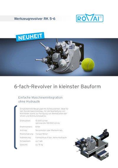 Broschüre Werkzeugrevolver RK 5-6