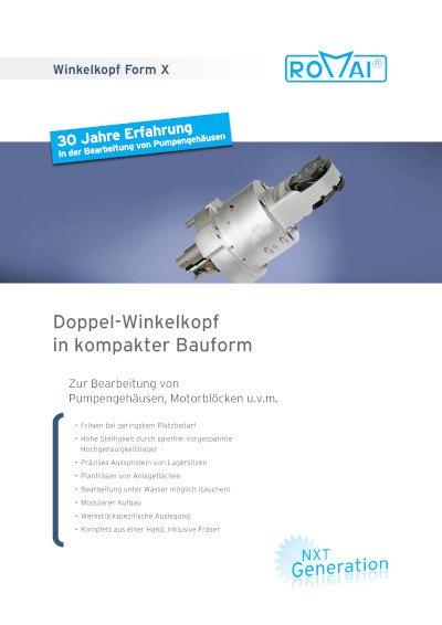 Broschüre Winkelkopf Form X