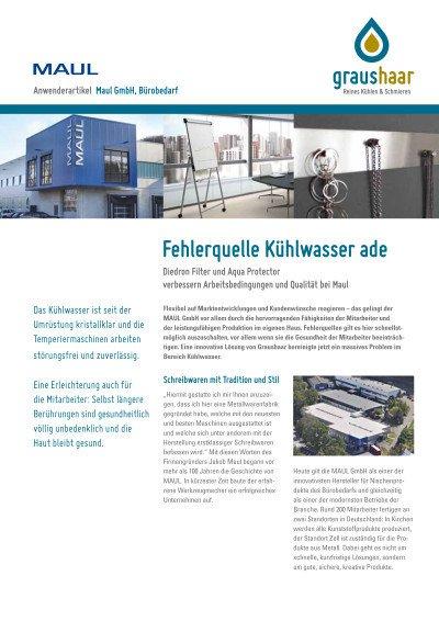 Filtration Kühlwasser - Anwenderbericht Maul