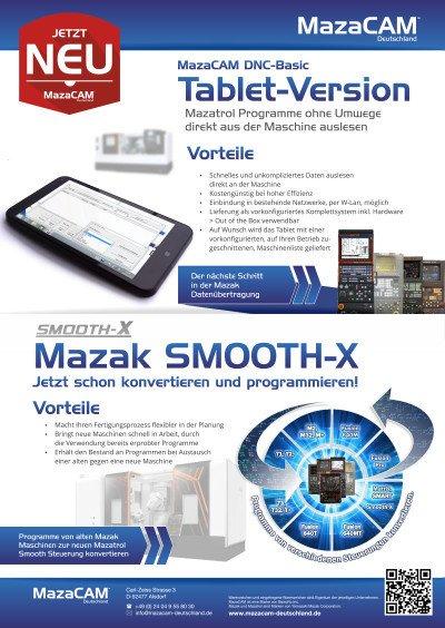 MazaCAM DNC Tablet