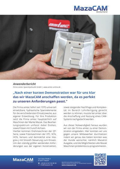 Anwenderbericht Firma amtec GmbH