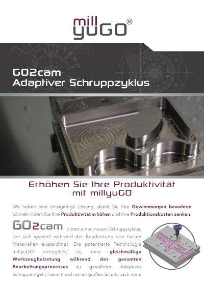 Go2cam Adaptiver Schruppzyklus