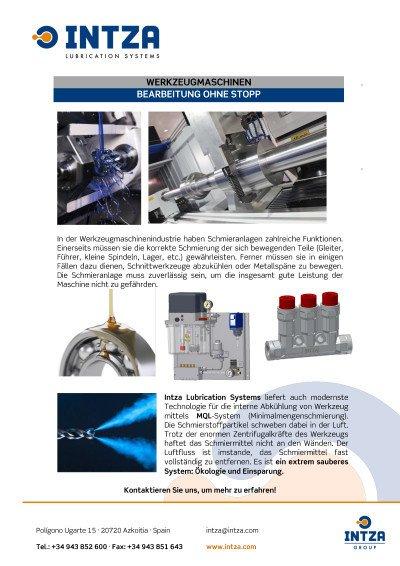 Anwendung für Werkzeugmaschinen