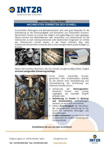 Anwendung für industrielle Drucker