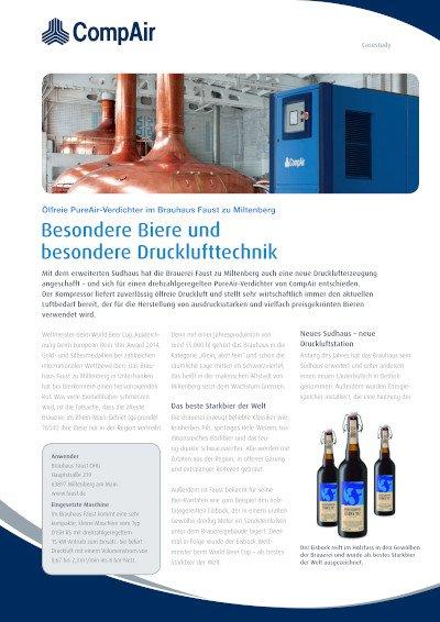 Besondere Biere und besondere Drucklufttechnik - Fallbeispiel Brauhaus Faust