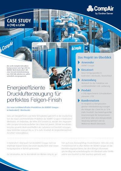 Energieeffiziente Drucklufterzeugung für perfektes Felgen-Finish - Fallbeispiel BORBET Gruppe