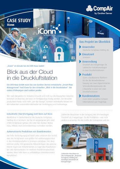"""""""iConn"""" im Einsatz bei der DFH Haus GmbH  Blick aus der Cloud in die Druckluftstation"""
