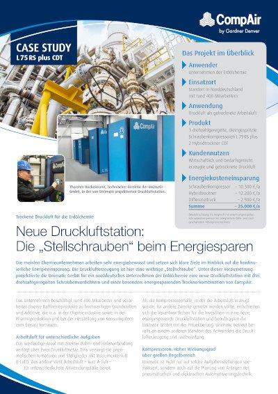 """Neue Druckluftstation: Die """"Stellschrauben"""" beim Energiesparen - Fallbeispiel Unimatic GmbH"""