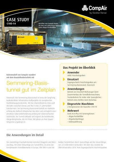 Semmering-Basistunnel gut im Zeitplan