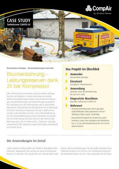 Brunnenbohrung - Leistungsreserven dank 24 bar Kompressor