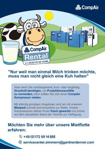 Nur weil man einmal Milch trinken möchte, muss man nicht gleich eine Kuh halten