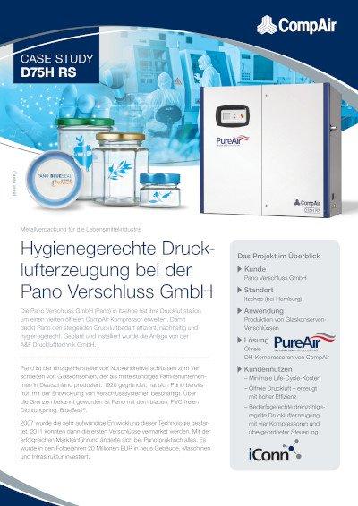 Hygienegerechte Drucklufterzeugung bei der Pano Verschluss GmbH