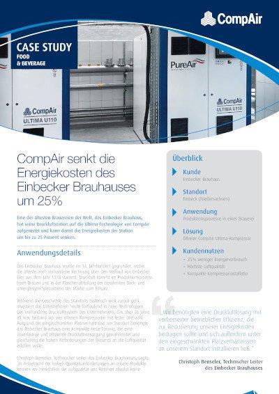 CompAir senkt die Energiekosten des Einbecker Brauhauses um 25%