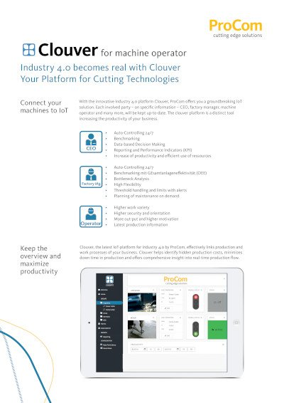 Flyer Clouver - for machine owners