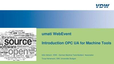 OPC UA for Machine Tools