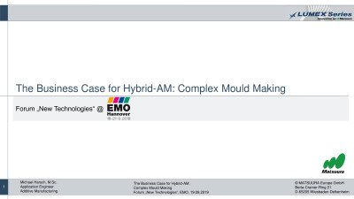 The Business Case für Hybrid-AM: Complex Mold Making