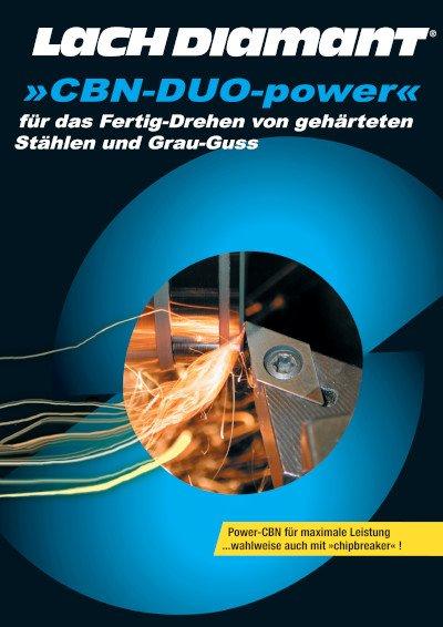 »CBN-DUO-power« für das Fertig-Drehen von gehärteten Stählen und Grau-Guss