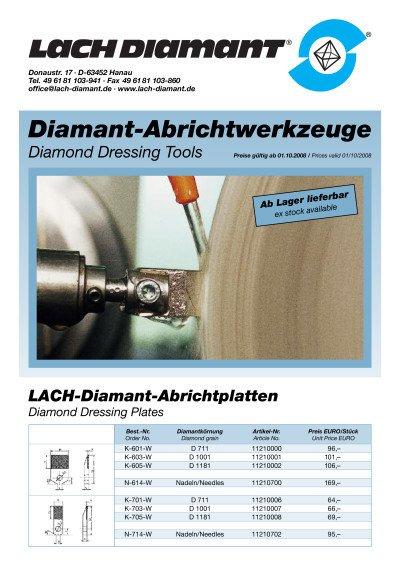 Abrichtplatten, Vielkorn-Abrichter und Profil-Abrichtdiamanten