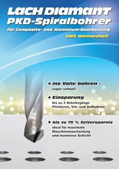 PKD-Spiralbohrer für Composite- und Aluminium-Bearbeitung